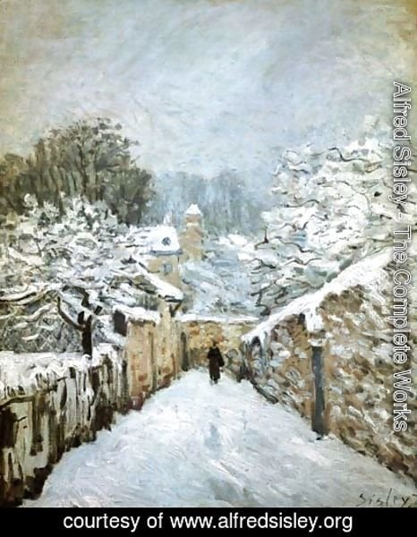 Alfred Sisley - Winter in Louveciennes