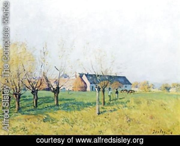 Alfred Sisley - Farmhouse at Hollenkaff