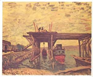 Alfred Sisley - Bridge under construction