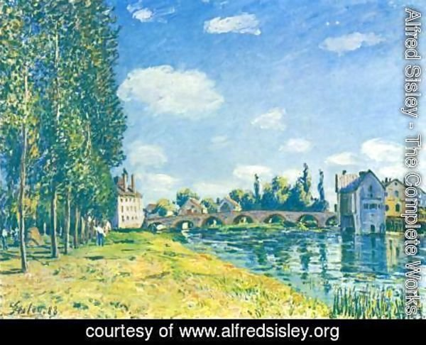 Alfred Sisley - Moret Bridge in the summer