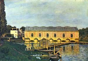 Alfred Sisley - Pump engine house at Marly