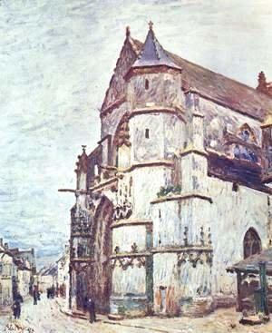 Alfred Sisley - Church at Moret after the Rain