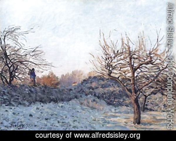 Alfred Sisley - The Frost