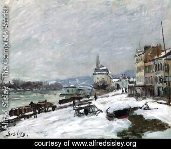 Alfred Sisley - Winter at Marly-le-Roi, Snow Effect