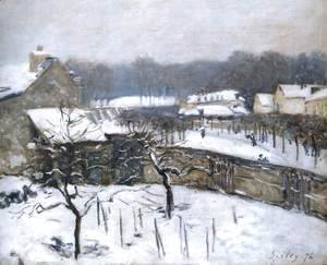 Alfred Sisley - Snow Effect at Louveciennes 2