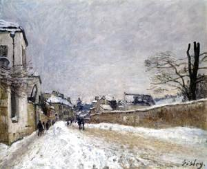 Alfred Sisley - Rue Eugne Moussoir at Moret, Winter