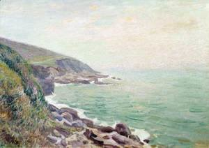 Alfred Sisley - On the Cliffs, Langland Bay, Wales 2