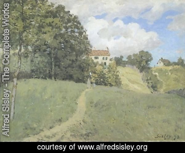Alfred Sisley - Landscape with Houses