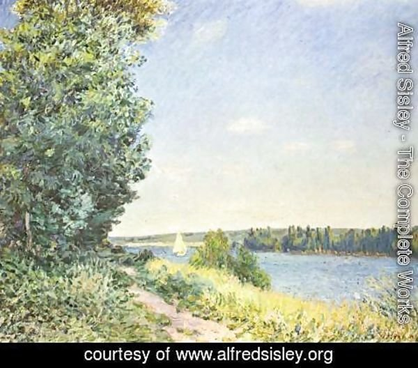 Alfred Sisley - Normandy, the water path, in the evening at Sahurs