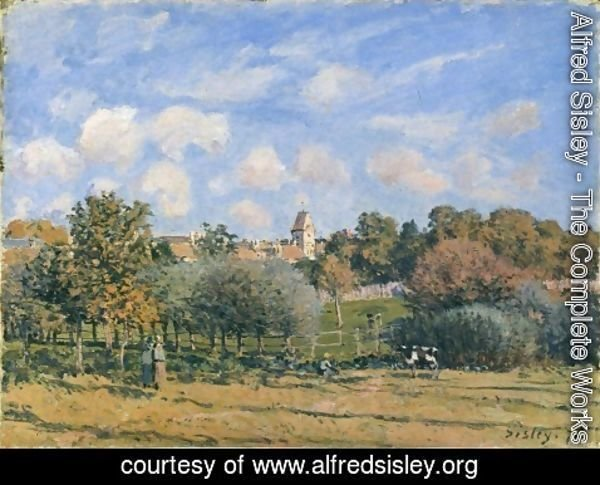 Alfred Sisley - Church at Noisy Le Roi in Autumn