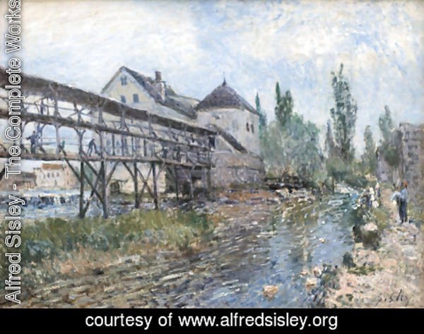 Alfred Sisley - Watermill near Moret by Alfred Sisley
