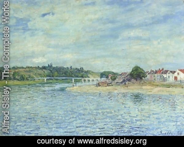 Alfred Sisley - The Seine at Saint Mammes