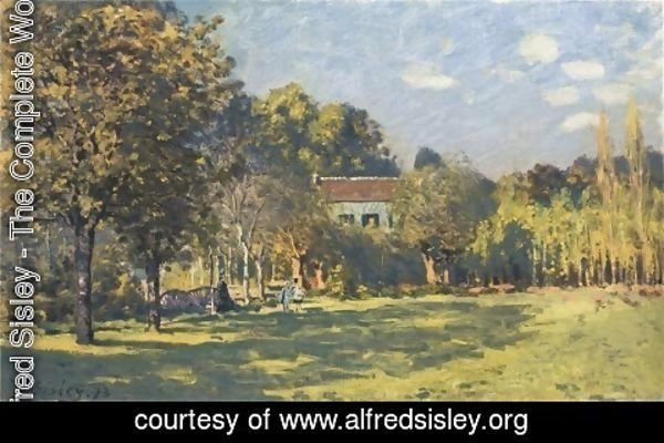 Alfred Sisley - A Park in Louveciennes