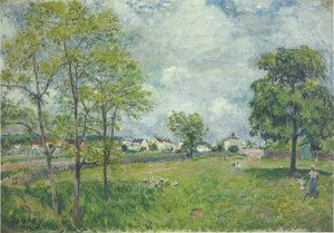 Alfred Sisley - View of the Village