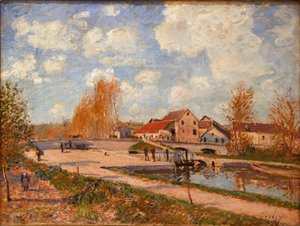Alfred Sisley - The Bourgogne Lock at Moret, Spring 2