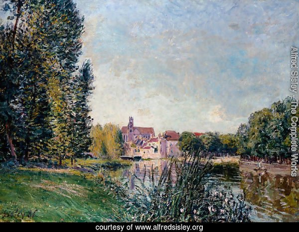 Loing River and Church at Moret