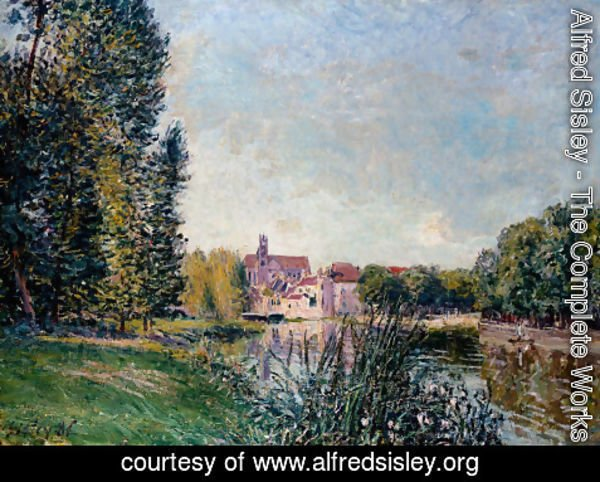 Alfred Sisley - Loing River and Church at Moret