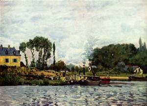 Alfred Sisley - Boats at Bougival