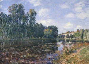 Alfred Sisley - Bend in the River Loing in Summer