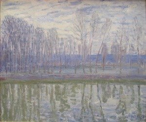 Alfred Sisley - On the Banks of the River Loing