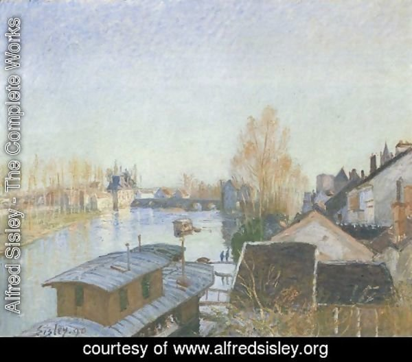 Alfred Sisley - Banks of the Loing near Moret