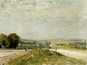 Alfred Sisley - The Road to Louveciennes Montbuisson