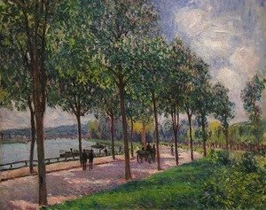 Alfred Sisley - Alley of Chestnut Trees