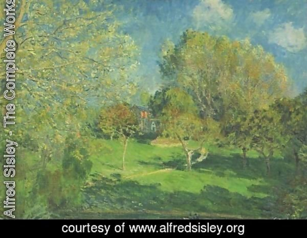 Alfred Sisley - The Garden of Hoschede, Montgeron
