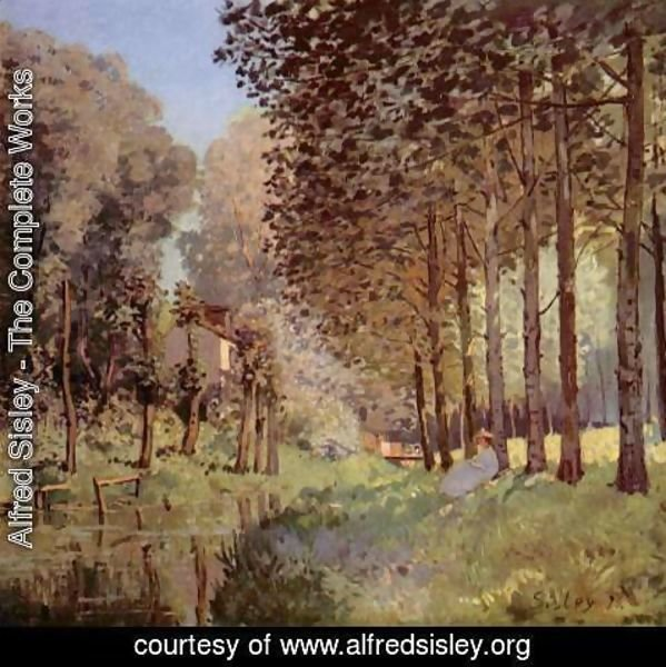 Alfred Sisley - The rest beside d'un Creek