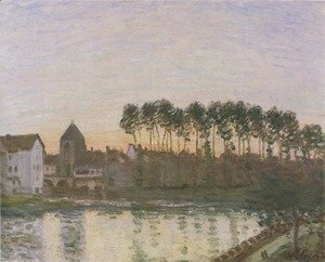Alfred Sisley - Sunset at Moret
