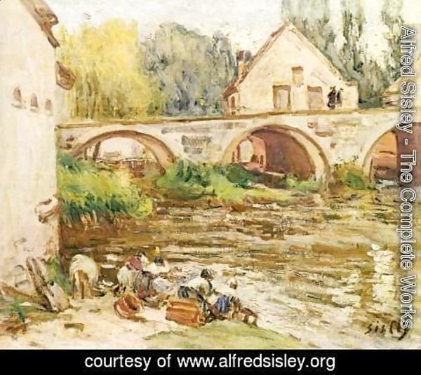 Alfred Sisley - The Washerwomen of Moret 2
