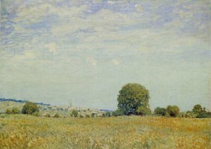 Alfred Sisley - Fields at Saint Cloud