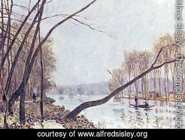 Alfred Sisley - Bank, in the autumn