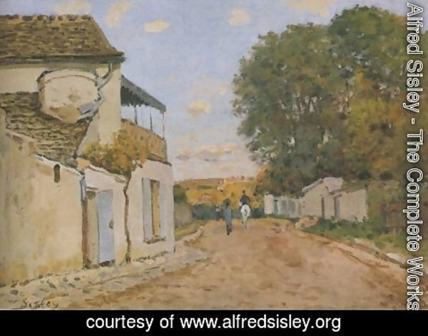 Alfred Sisley - Princesse Street in Louveciennes