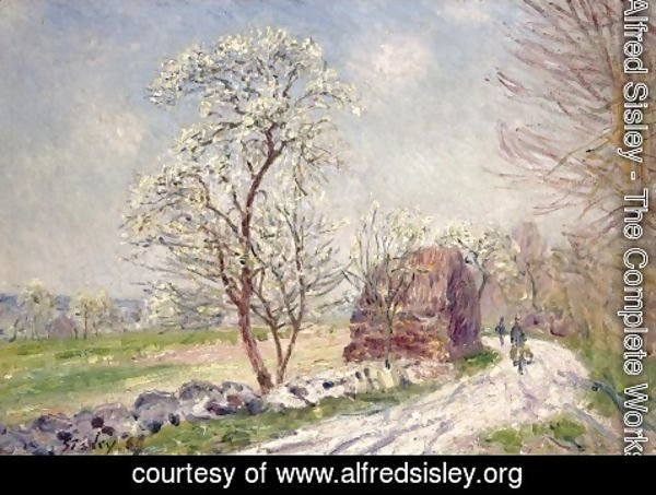Alfred Sisley - Along the Woods in Spring