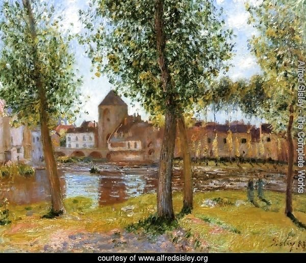 Poplars a Moret sur Loing, an August Afternoon