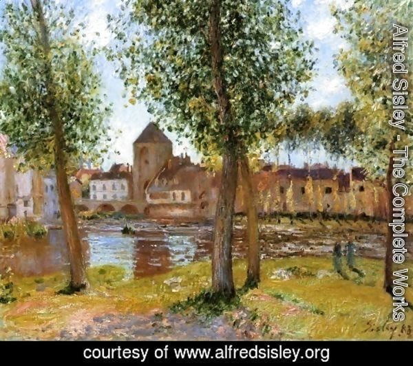 Alfred Sisley - Poplars a Moret sur Loing, an August Afternoon