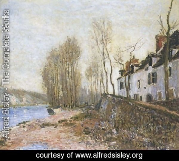 Alfred Sisley - Saint Mammes in Winter