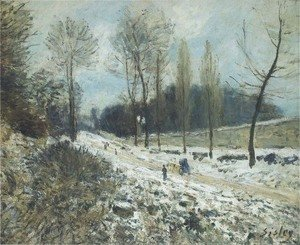 Alfred Sisley - Route to Marly Le Roi in Snow
