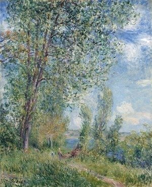 Alfred Sisley - Windy Afternoon in May