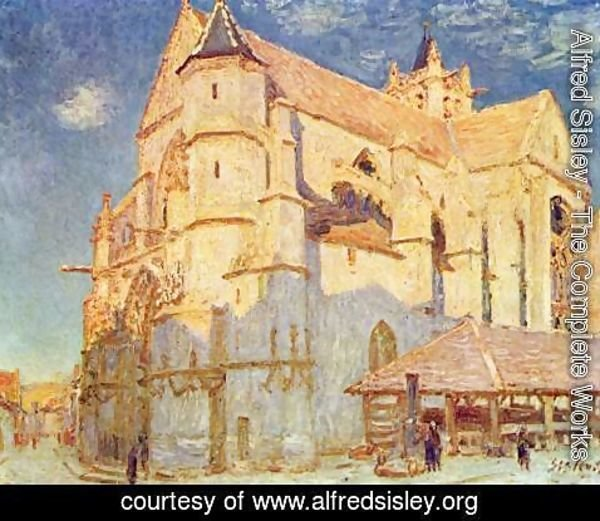 Alfred Sisley - Church of Moret 2