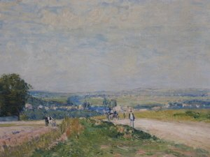 Alfred Sisley - The Road to Louveciennes Montbuisson 2