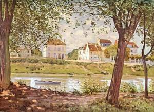 Alfred Sisley - Village On The Banks Of The Seine Villeneuve La Garenne