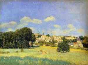 Alfred Sisley - View Of Marly Le Roi   Sunshine Formerly View Of St Cloud