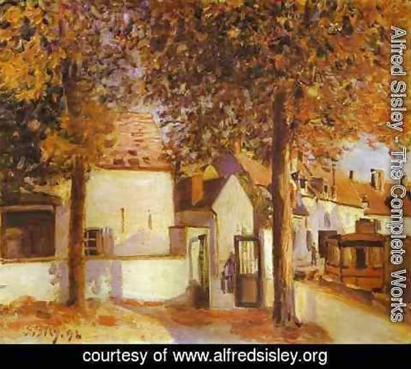 Alfred Sisley - View In Moret Rue Des Fosses