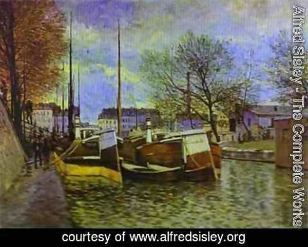 Alfred Sisley - The St Martin Canal In Paris