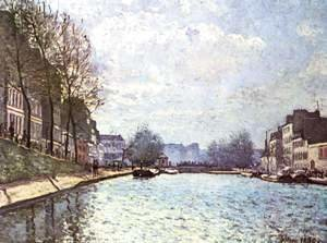 Alfred Sisley - The St. Martin Canal 1870
