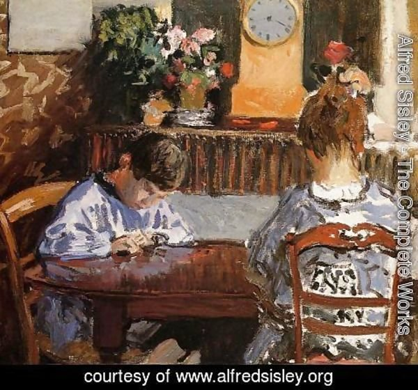 Alfred Sisley - The Lesson