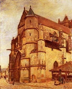 Alfred Sisley - The Church At Moret Winter