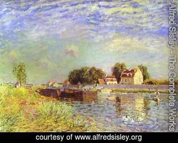Alfred Sisley - The Canal Du Loing At St Mammes